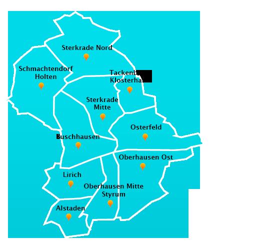 Stadtteile Winterdienst Schnee- Eisbeseitigung Oberhausen